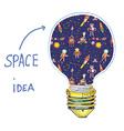 Idea lightbulb space vector image