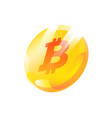 a coin bitcoin gradient flat icon symbol of vector image