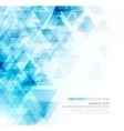 Abstract polygonal triangles poster vector image vector image