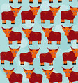 asian yak bull Seamless pattern with funny cute vector image vector image