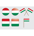badges with flag of Hungary vector image vector image