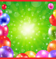 birthday green sunburst poster vector image vector image