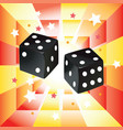 black dices on abstract vector image