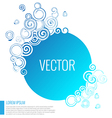 Blue abstract circle background vector image vector image