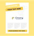bun title page design for company profile annual vector image vector image