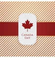 Canada Day paper Tag with red Ribbon vector image vector image