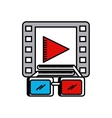 cinema 3d technology icon vector image vector image