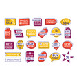 collection of labels isolated on white background vector image