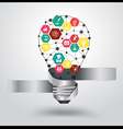 Creative light bulb idea with science icon vector image vector image