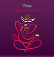 creative poster of celebrate ganesh chaturthi vector image vector image