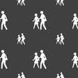 crosswalk icon sign Seamless pattern on a gray vector image vector image