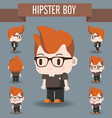 Cute Character of Hipster Boy vector image