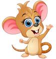 cute mice cartoon waving vector image