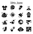 dirty icon set vector image vector image