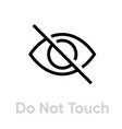 do not touch coronavirus icon editable line vector image vector image