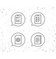 document report and checklist line icons vector image vector image