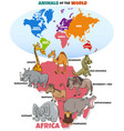 educational with african animals and continents