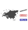 europe and asia map in halftone dot style with vector image vector image