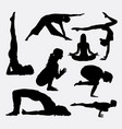 female yoga sport silhouette vector image vector image