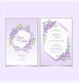 geranium watercolor flower wedding invitation vector image vector image