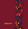 halloween holiday background paper cut style vector image