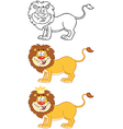 Happy Lion Character Collection vector image vector image