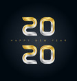 happy new year 2020 background with 3d gold and vector image vector image