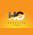 ho h o letter modern logo design with yellow vector image vector image