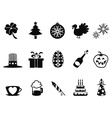 holiday and event icons set vector image