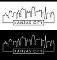 kansas city skyline linear style editable file vector image vector image