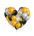 luxury balloons in gold silver and black colours vector image