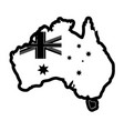 map with flag of australia vector image
