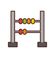 math abacus isolated icon vector image