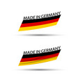 modern colored german flags made in germany vector image vector image