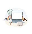 online elearning education at home vector image