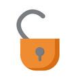open padlock icon image vector image
