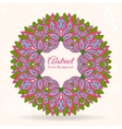 Ornamental round lace background with many details vector image vector image