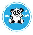 Panda bathing vector image vector image