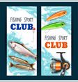 realistic fishing banners vector image
