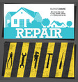 repair and service home business card vector image vector image