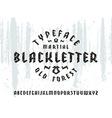 Sanserif font in black letter style vector image vector image