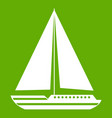 sea yacht icon green vector image vector image