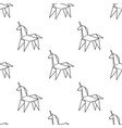 seamless trendy pattern with japanese origami art vector image vector image