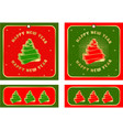 set christmas tags vector image