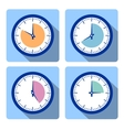 Set clock vector image vector image