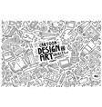 set design theme items vector image
