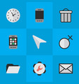 set of simple menu icons vector image vector image