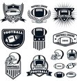 Set of the american football labels emblems and vector image