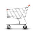 shopping cart isolated on white background flat vector image