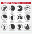 signs and symptoms allergies icons vector image vector image